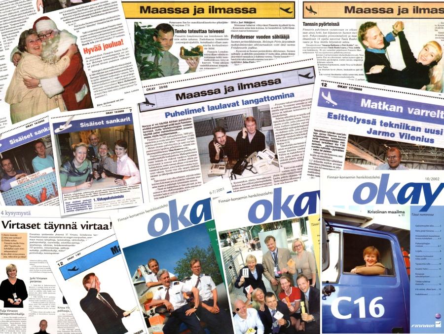 Pictures of Finnair Okay Magazine.